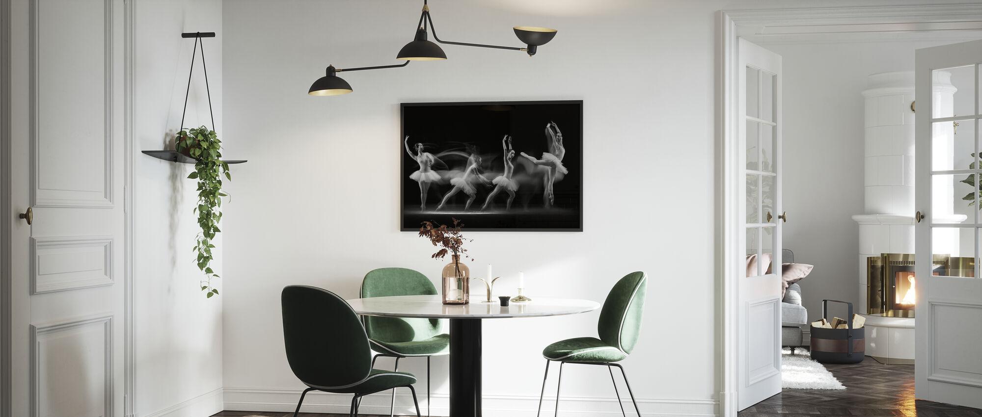 Balerina Art Wave - Framed print - Kitchen