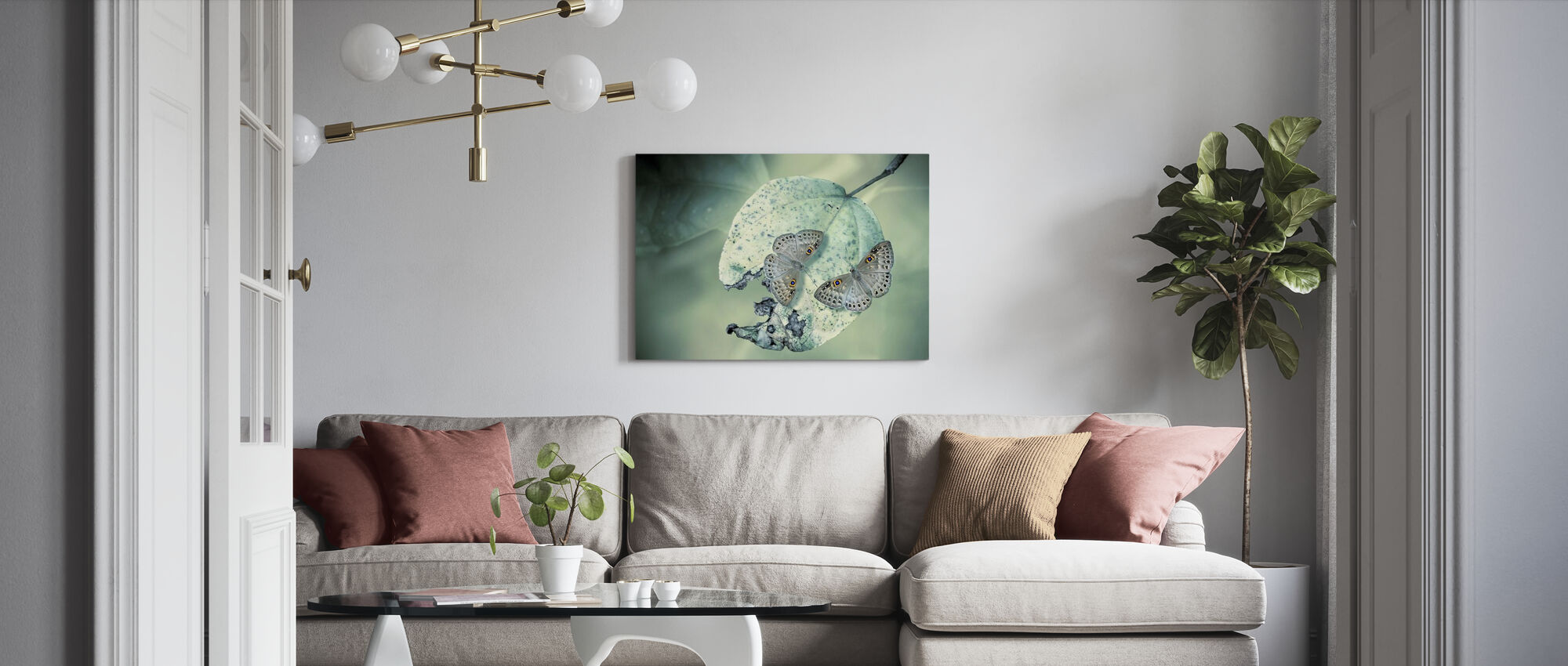 Duet - Canvas print - Woonkamer