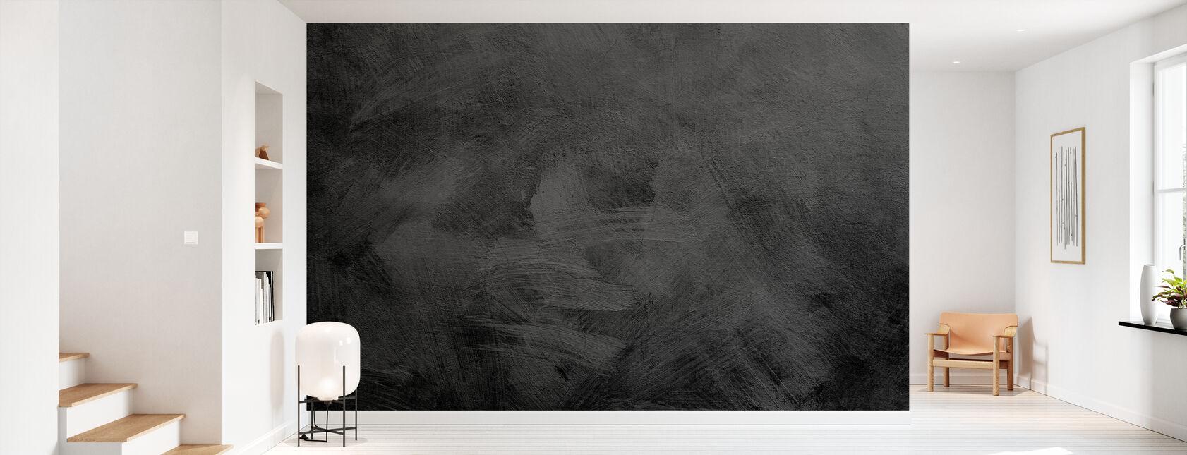 Black Stone Texture - Wallpaper - Hallway