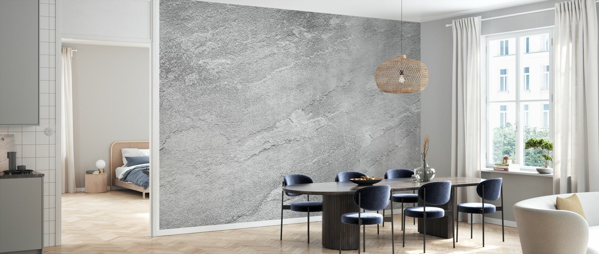 Gray Stone - Wallpaper - Kitchen