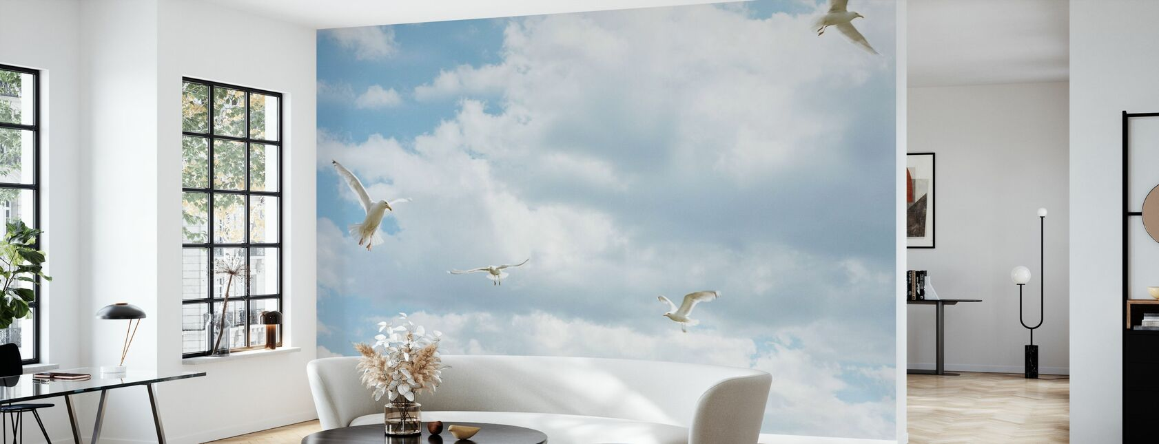 Seagull in the Sky - Wallpaper - Living Room