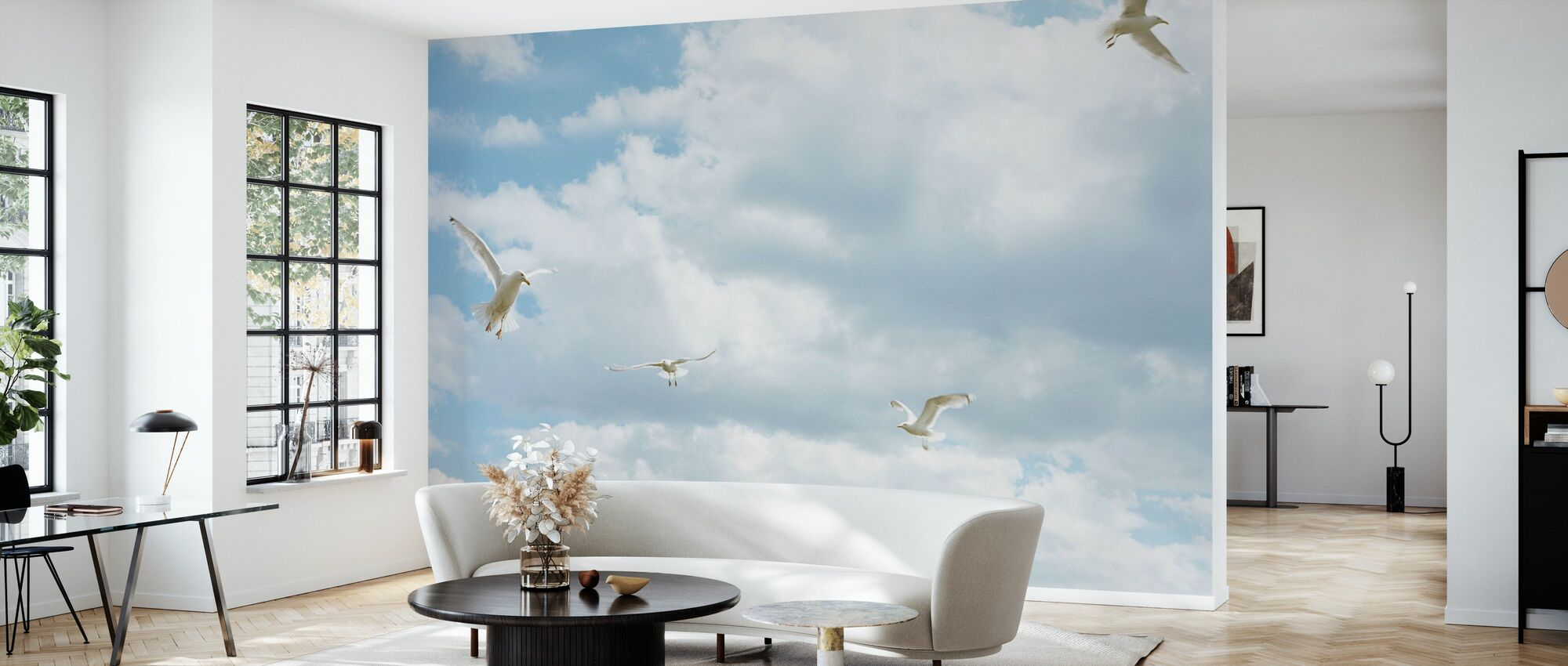 Seagull in the Sky - Wallpaper - Living Room