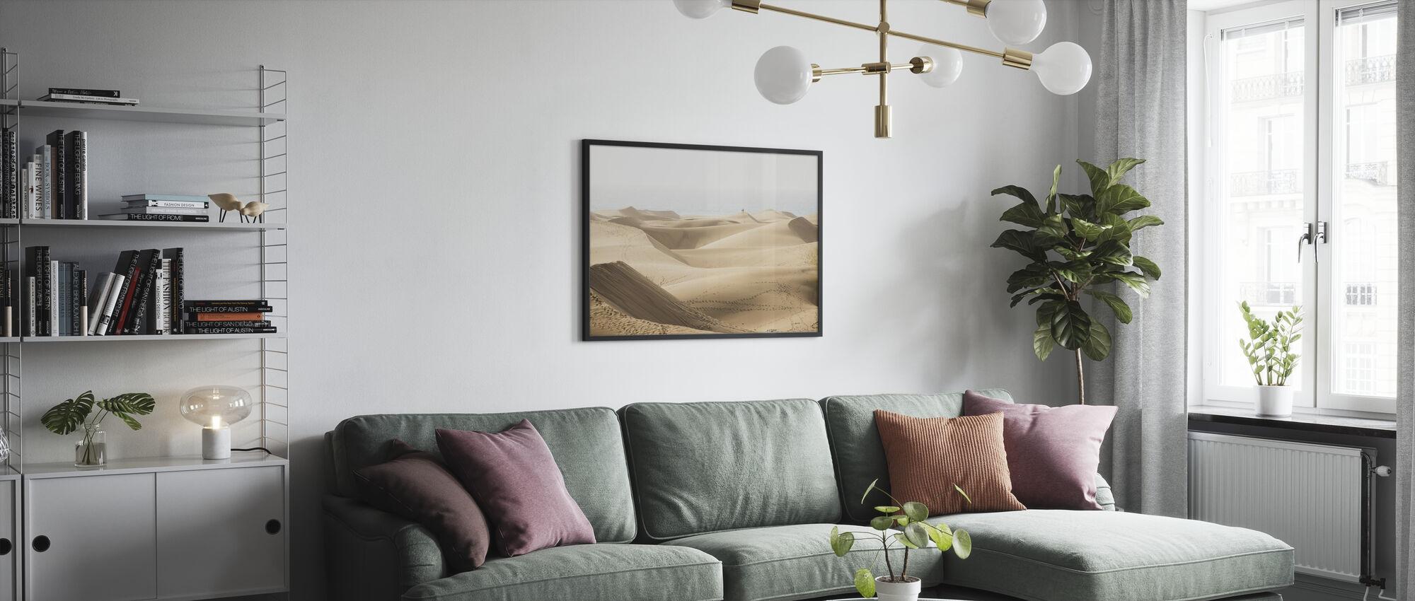 Maspolomas Sand Dunes - Framed print - Living Room