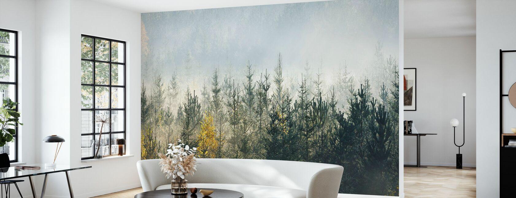Forêt brumeuse - Papier peint - Salle à manger