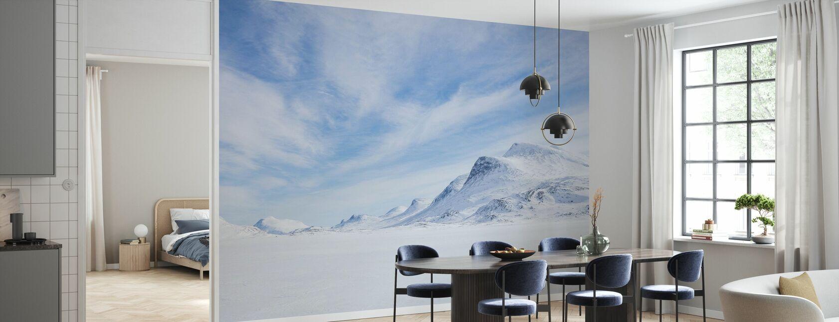 Vinterlandskap i svenska Lappland - Tapet - Kök