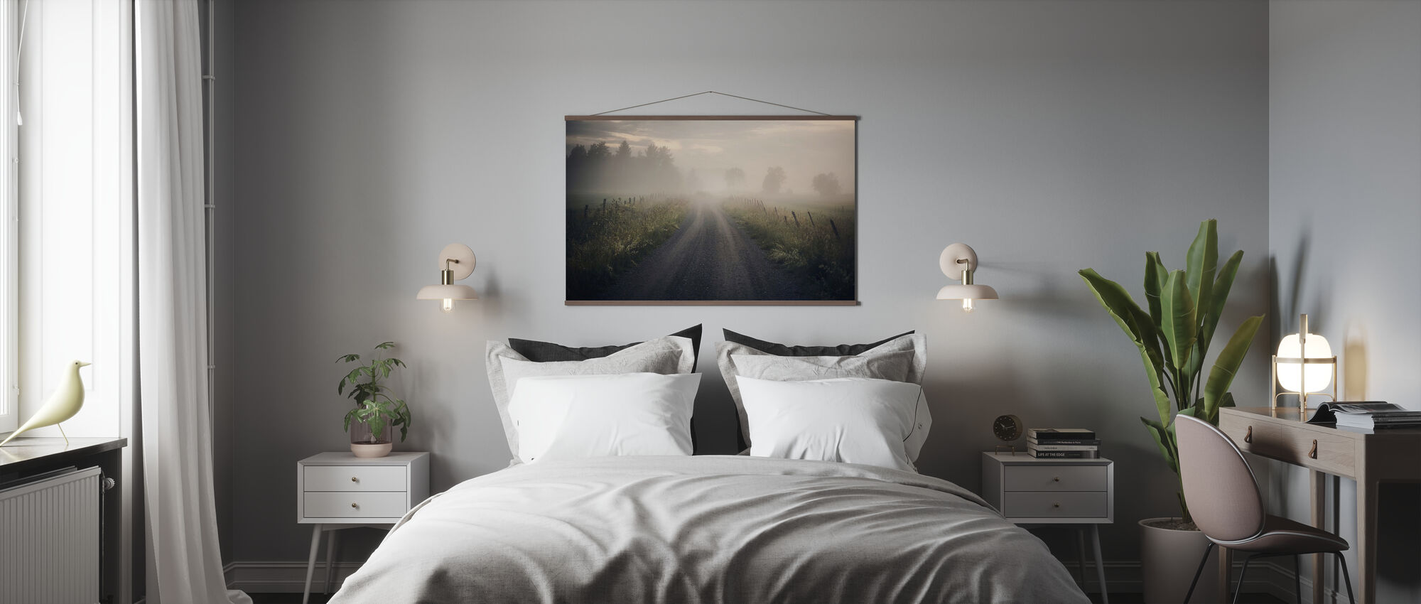 Misty Rural Road - Poster - Bedroom