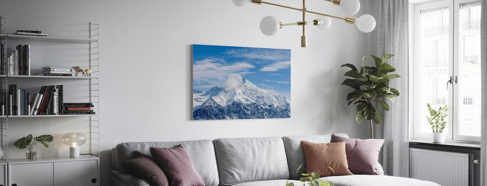 Swiss Alps - Canvas print - Living Room