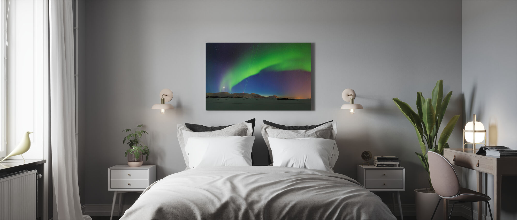 Northern Lights - Canvas print - Bedroom