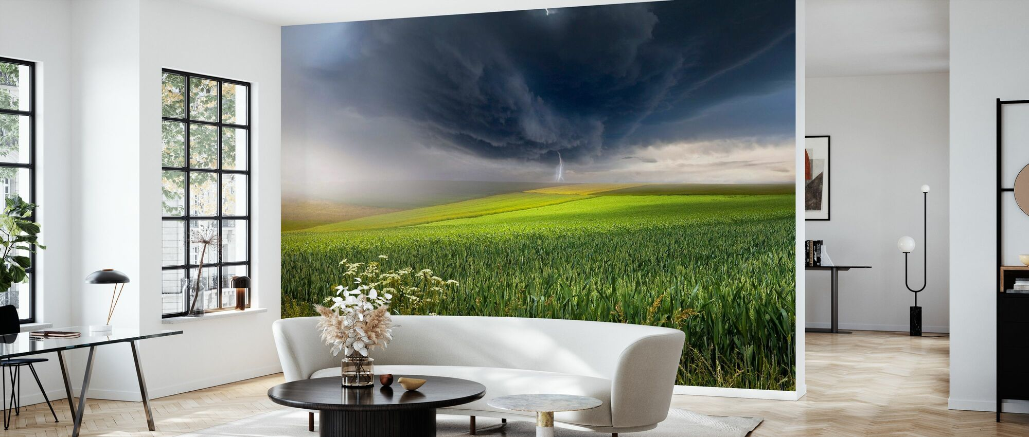 June Storm - Wallpaper - Living Room