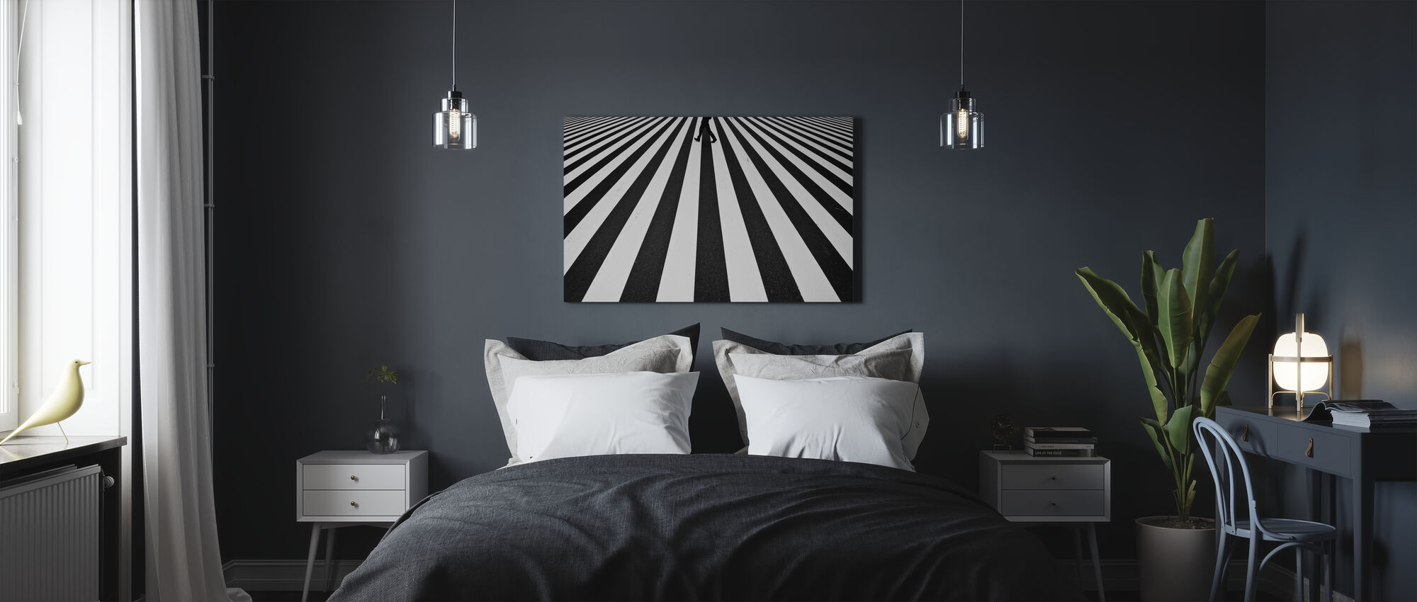 Stripe - Canvas print - Bedroom