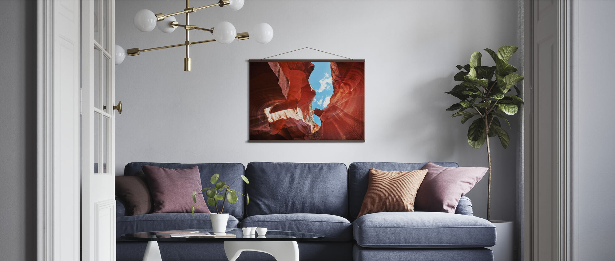 Rock Formation Antelope Canyon - Poster - Living Room