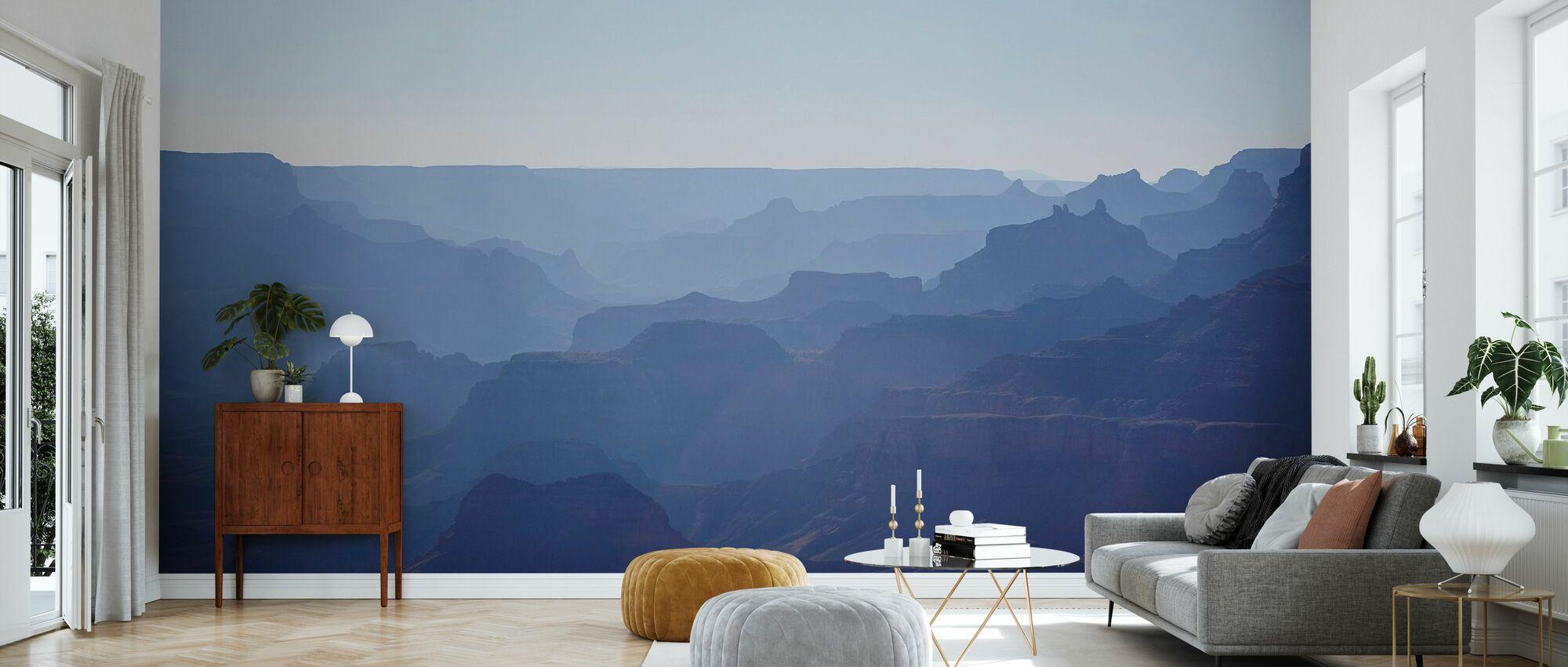 Uitzicht over Blue Grand Canyon - Behang - Woonkamer