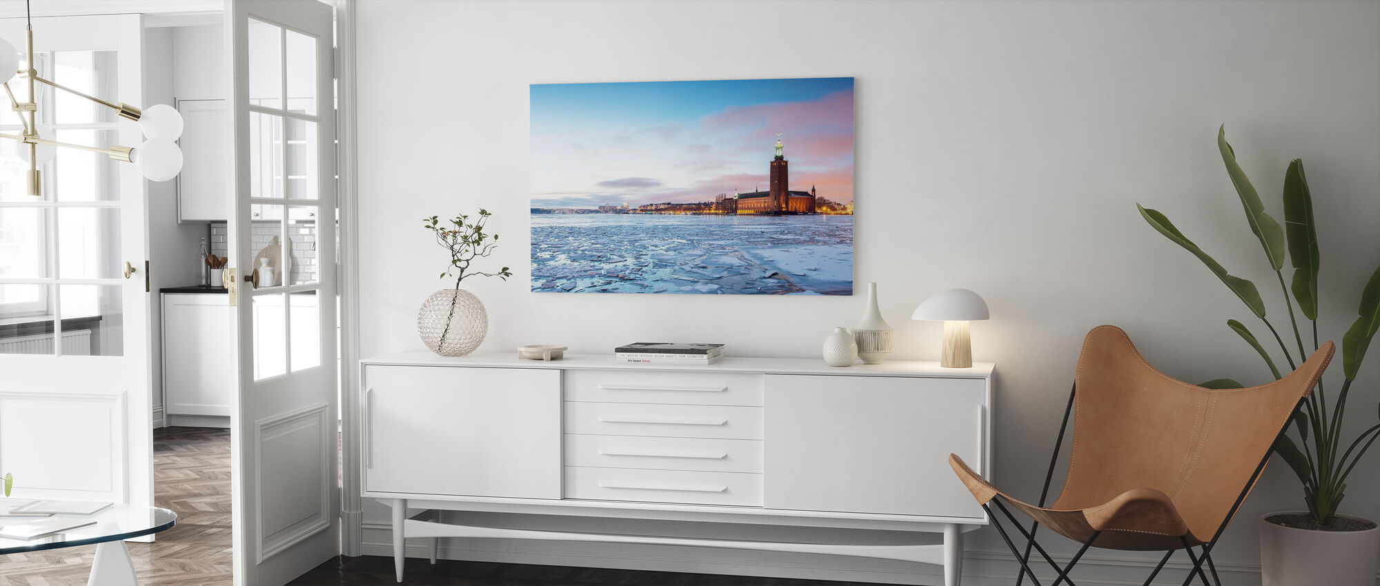Stockholm City Hall in Winter - Canvas print - Living Room