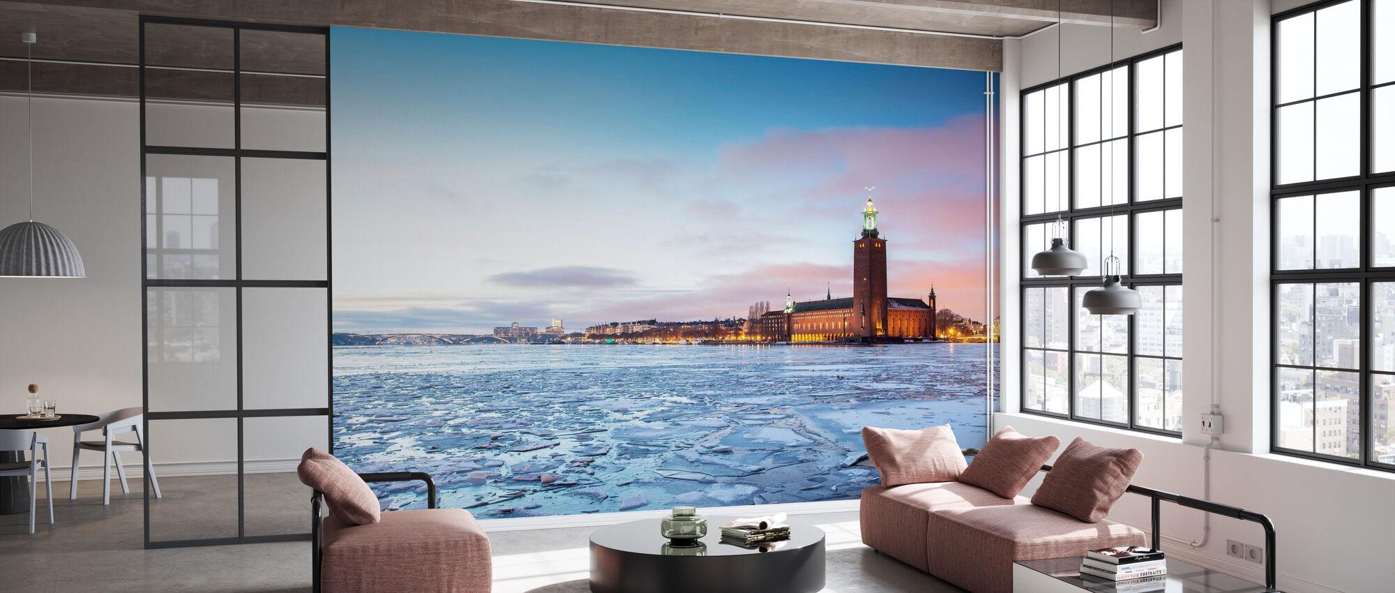 Stockholms stadshus på vintern - Tapet - Kontor