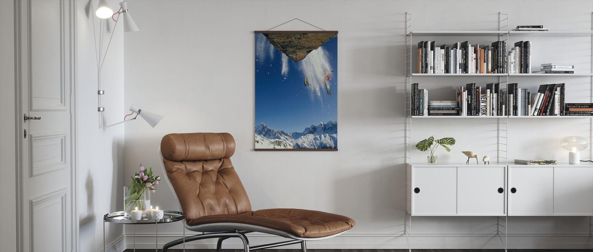 Pois Piste Hiihto Mont Blanc - Juliste - Olohuone