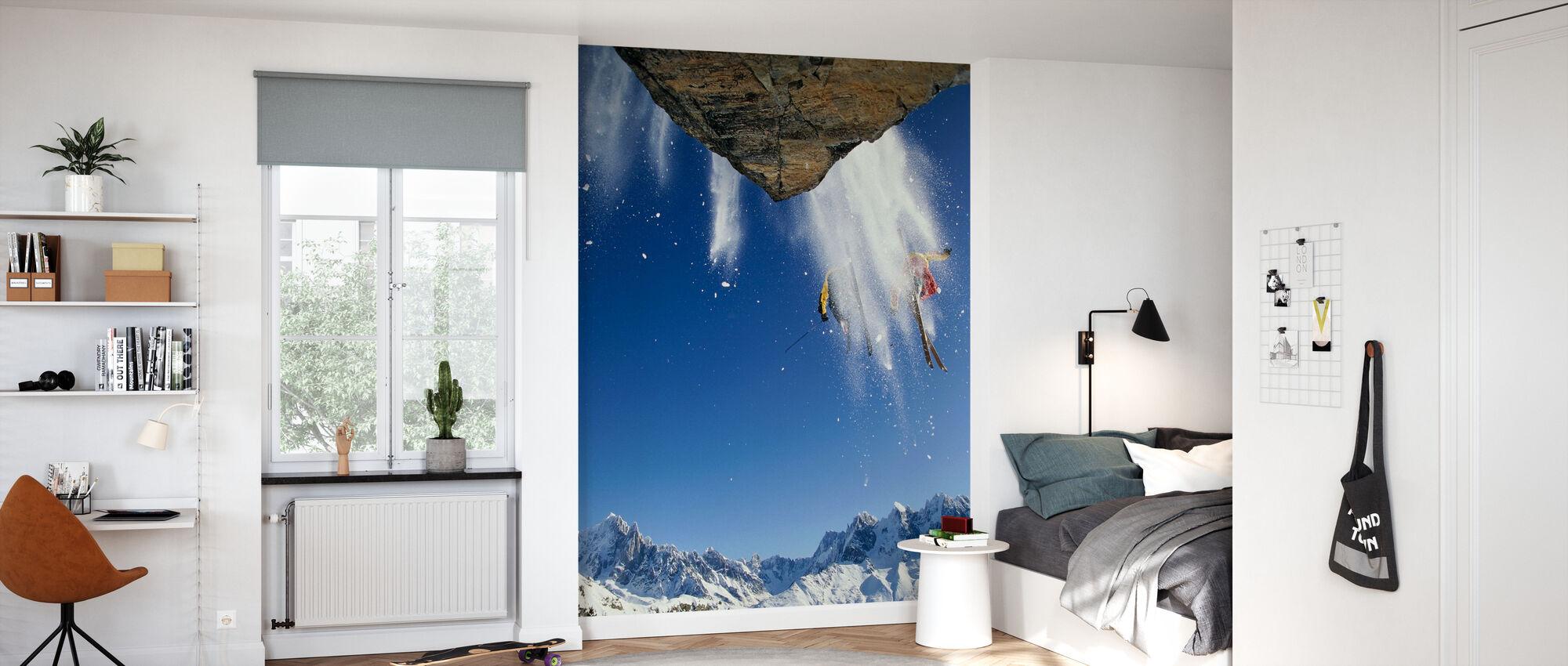 Off Piste Skiing at Mont Blanc - Wallpaper - Kids Room