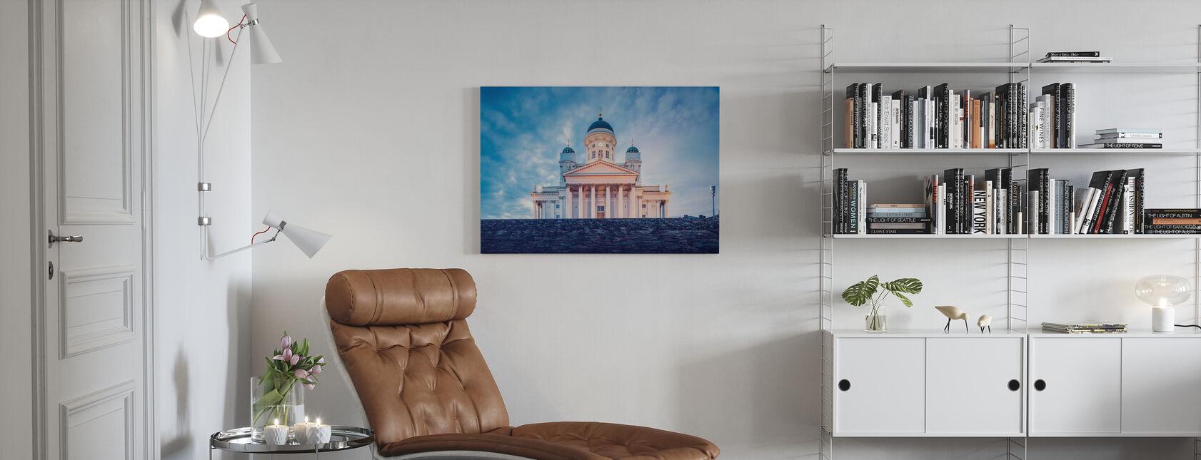 Cattedrale luterana di Helsinki alla luce della sera - Stampa su tela - Salotto