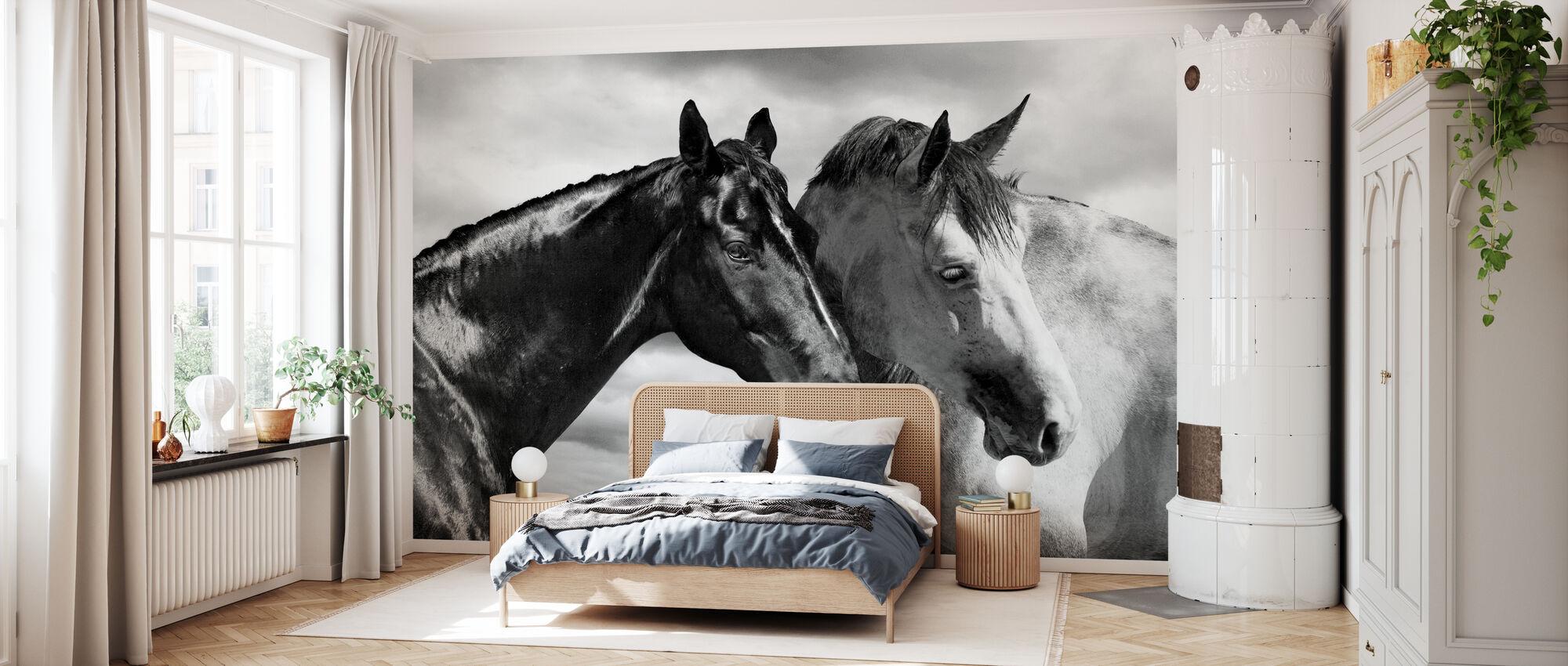 Horse Portrait - Wallpaper - Bedroom