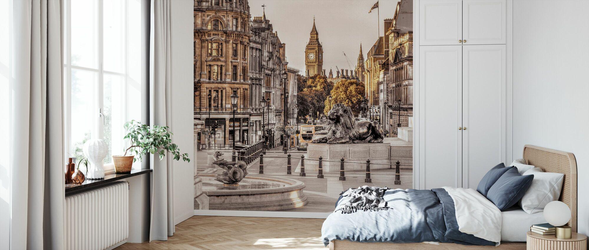 London in Gold - Wallpaper - Bedroom