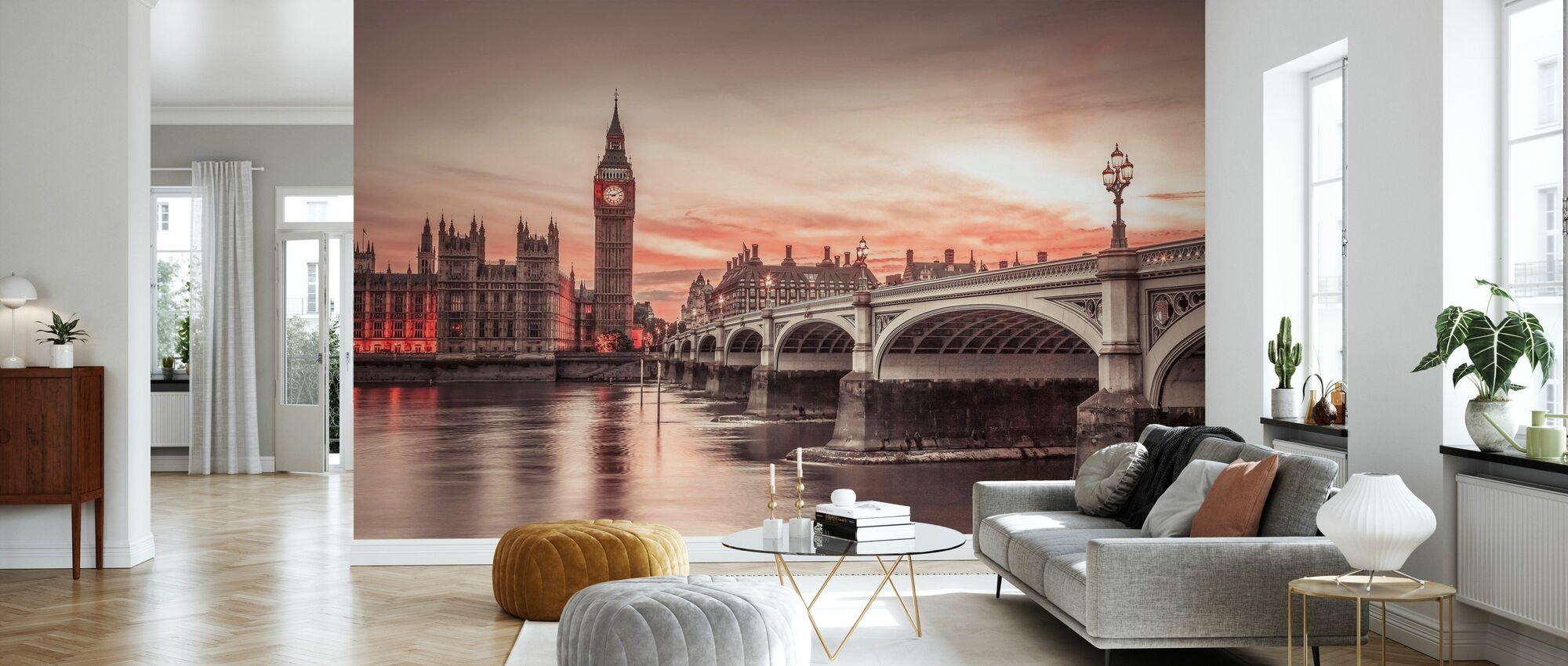 Big Ben Sunset - Tapet - Stue