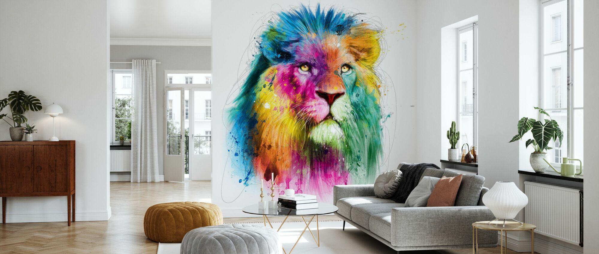Løve - Tapet - Stue
