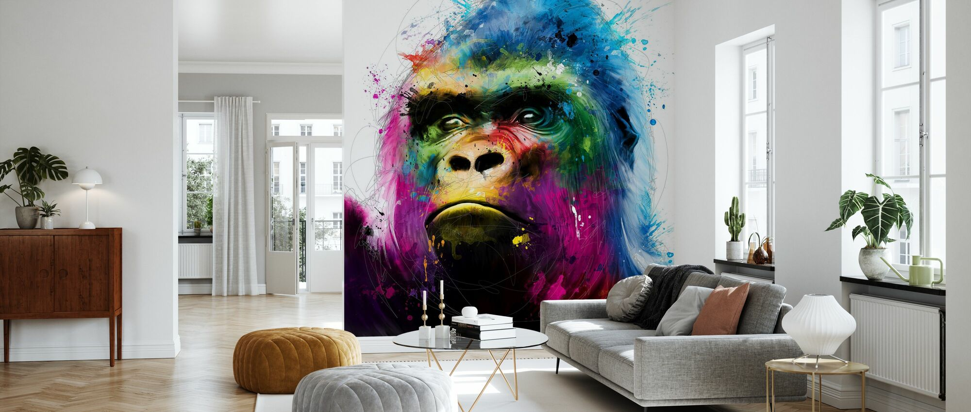Gorilla - Wallpaper - Living Room