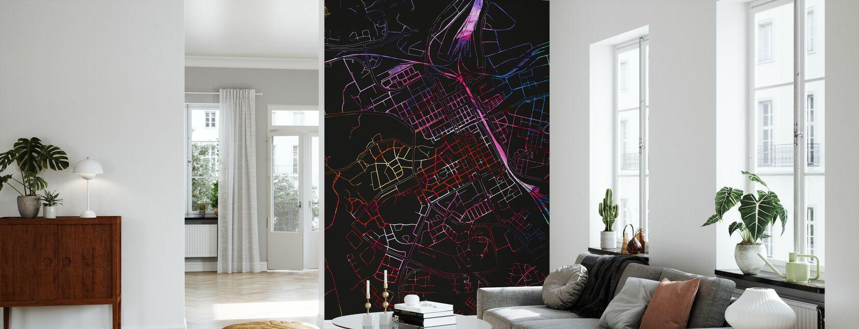 Gävle in Schweden - Karte - Tapete - Wohnzimmer