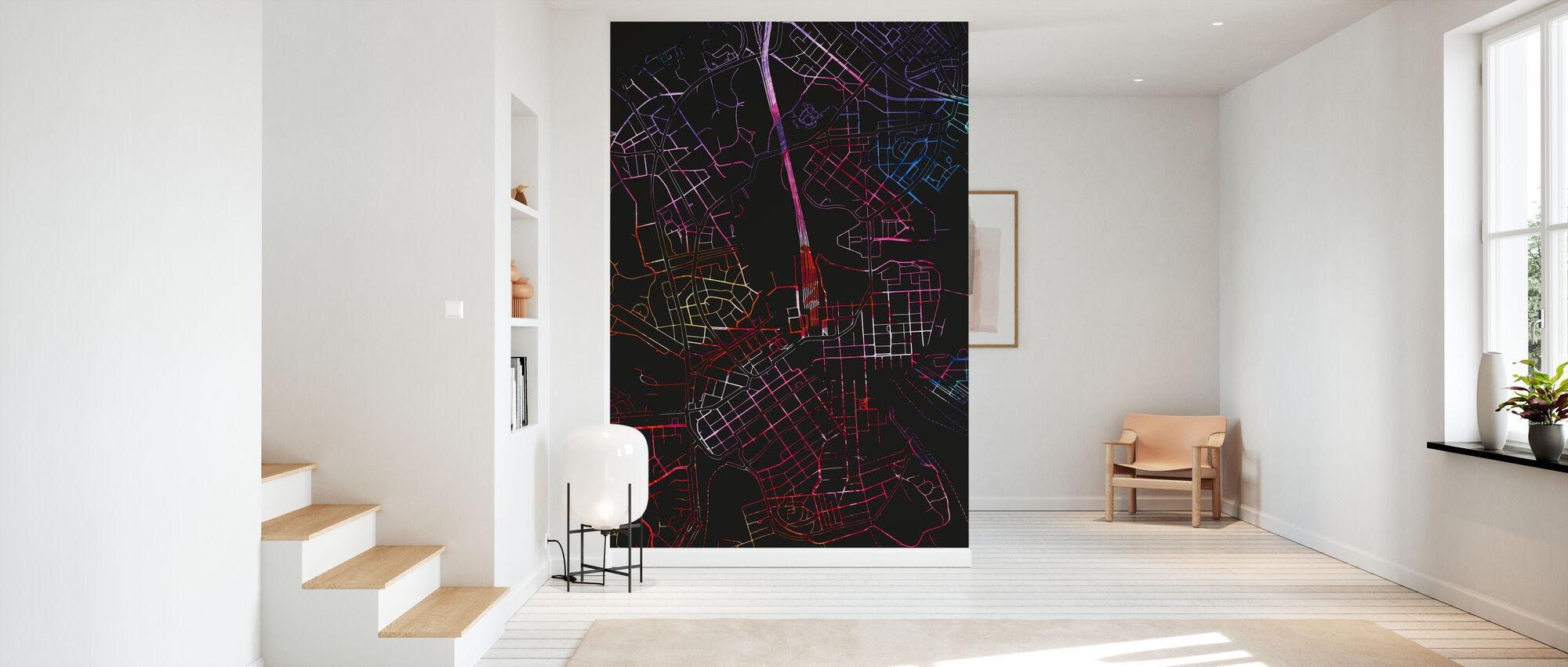 Helsinki in Finland - Map - Wallpaper - Hallway