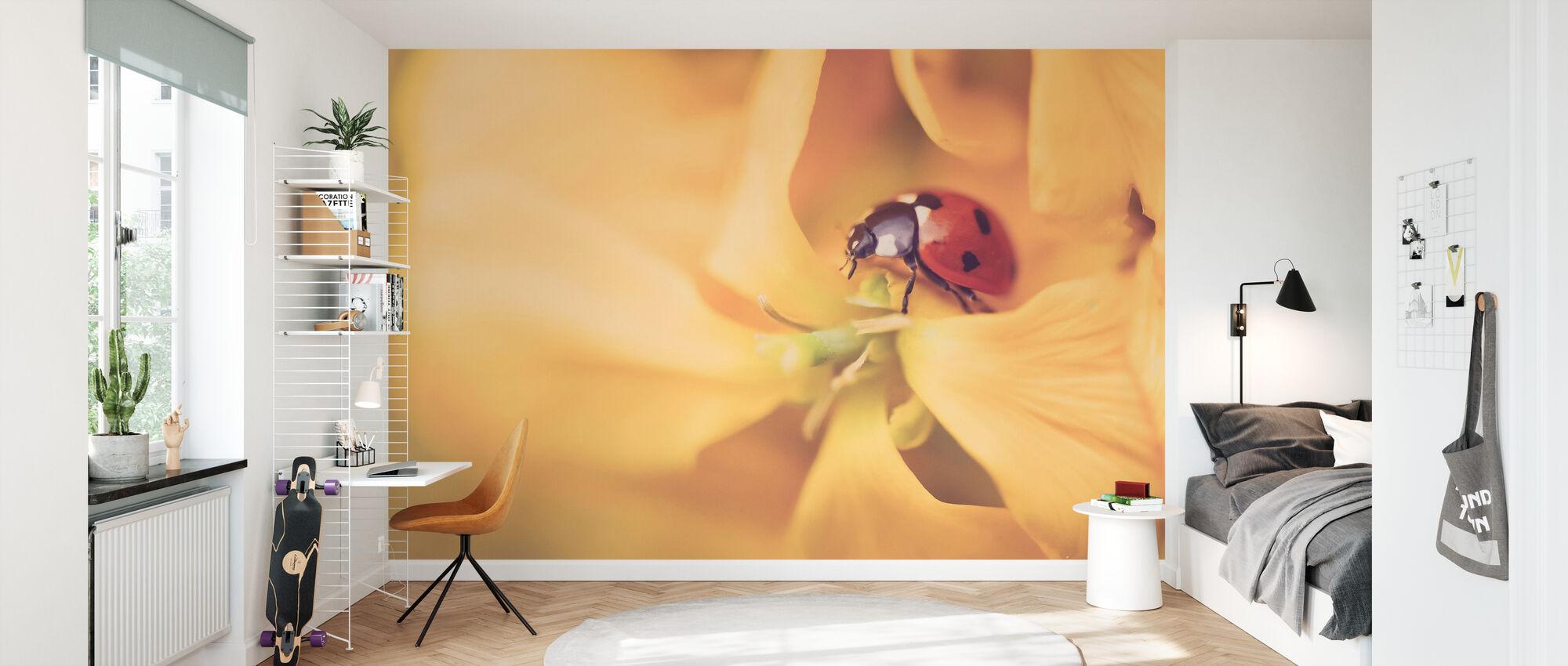 Lieveheersbeestje verkennen - Behang - Kinderkamer