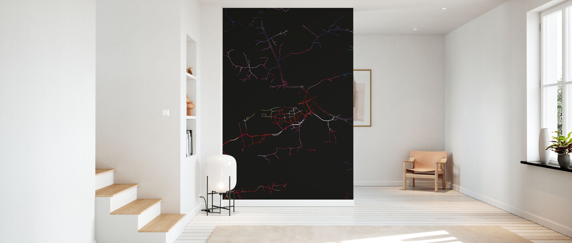 Tampere in Finland - Map - Wallpaper - Hallway