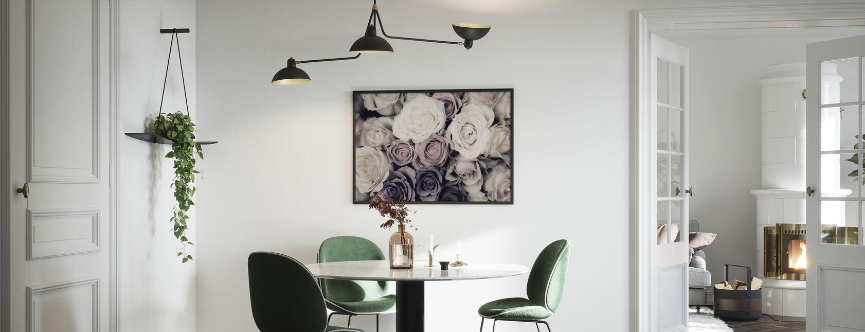 Dark Roses - Framed print - Kitchen