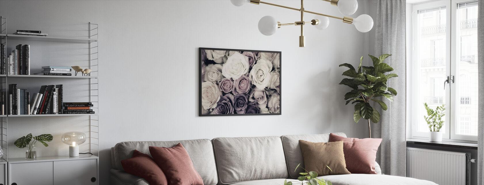 Dunkle Rosen - Poster - Wohnzimmer