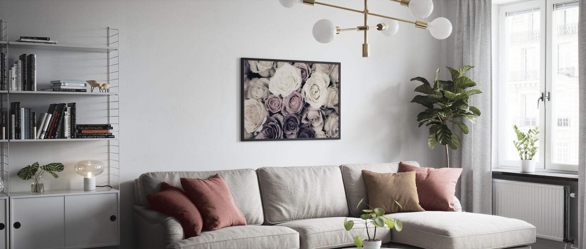 Mörka rosor - Poster - Vardagsrum