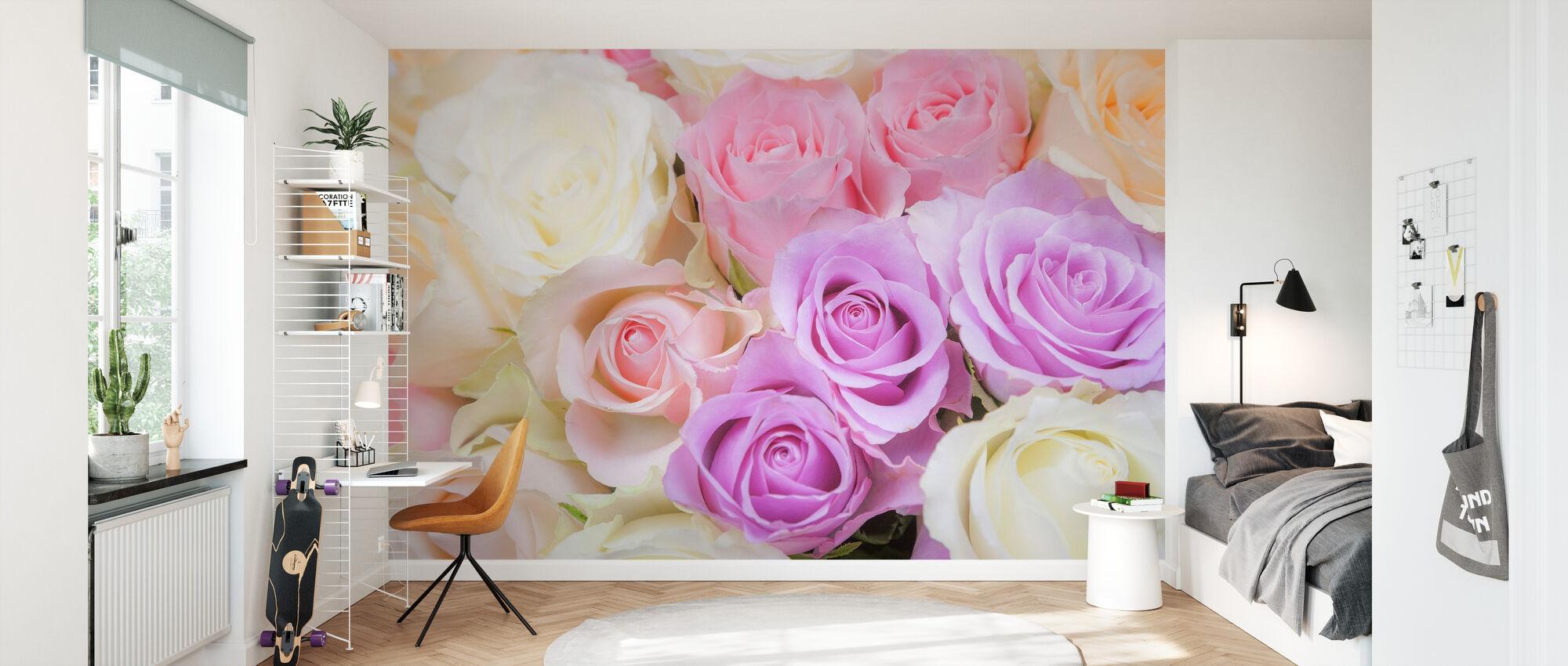Colorful Roses - Wallpaper - Kids Room