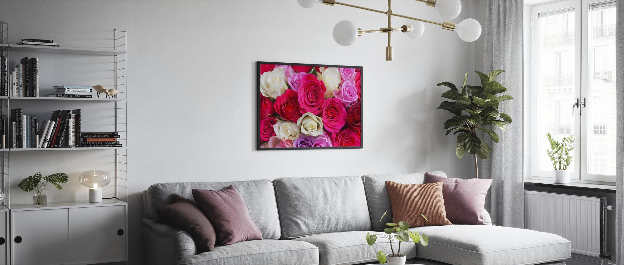 Beautiful Roses - Framed print - Living Room