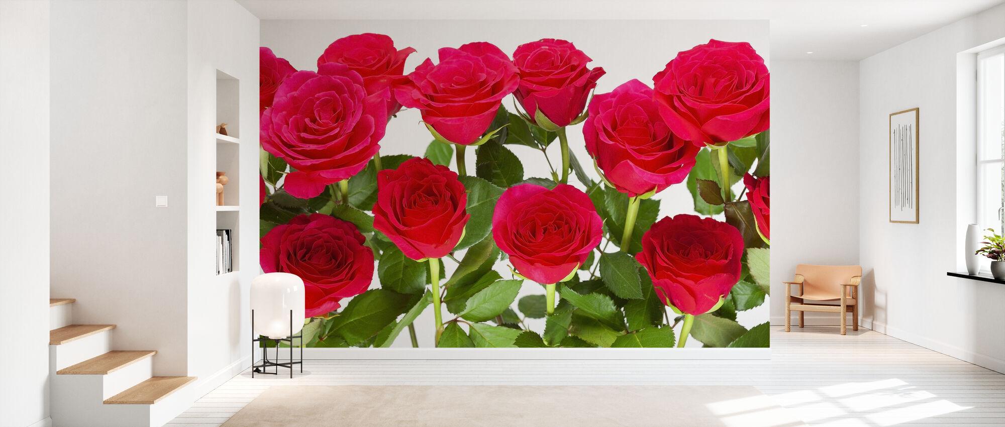 Red Roses - Wallpaper - Hallway