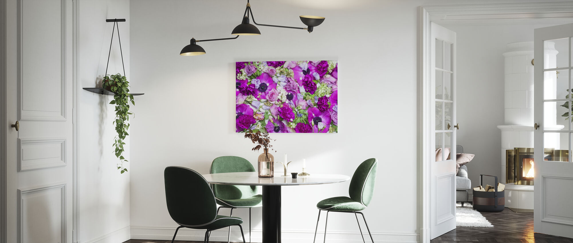 Fresh Flowers - Canvas print - Kitchen