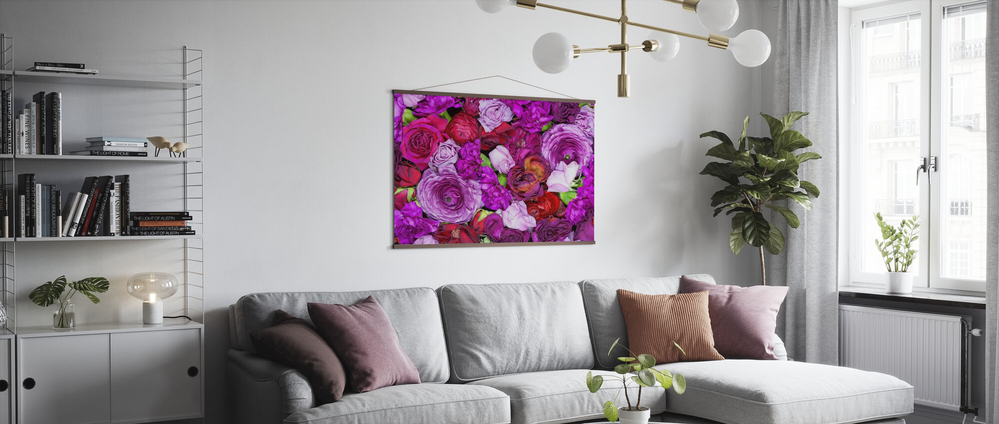 Colorful Flowers - Poster - Living Room
