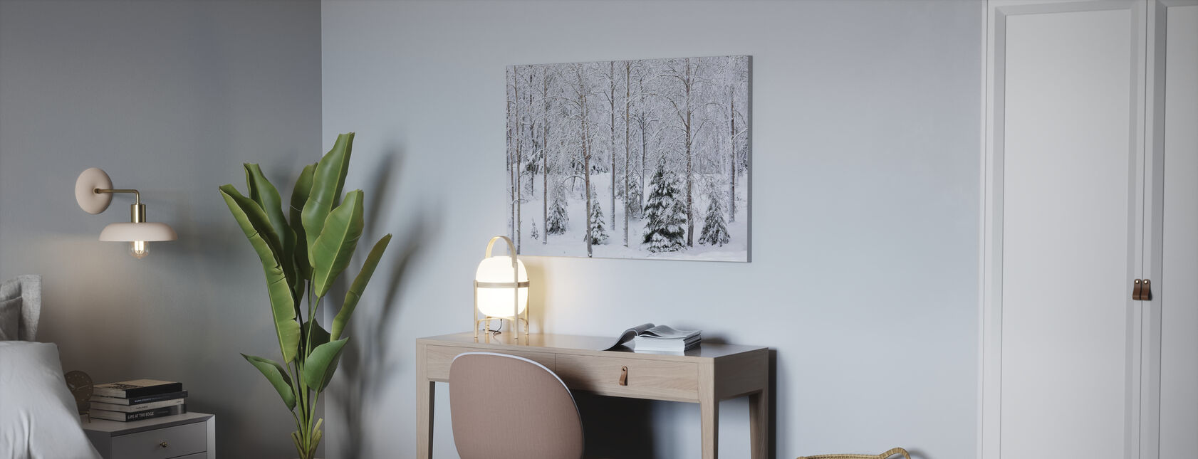 Snow in the Forest - Canvas print - Office