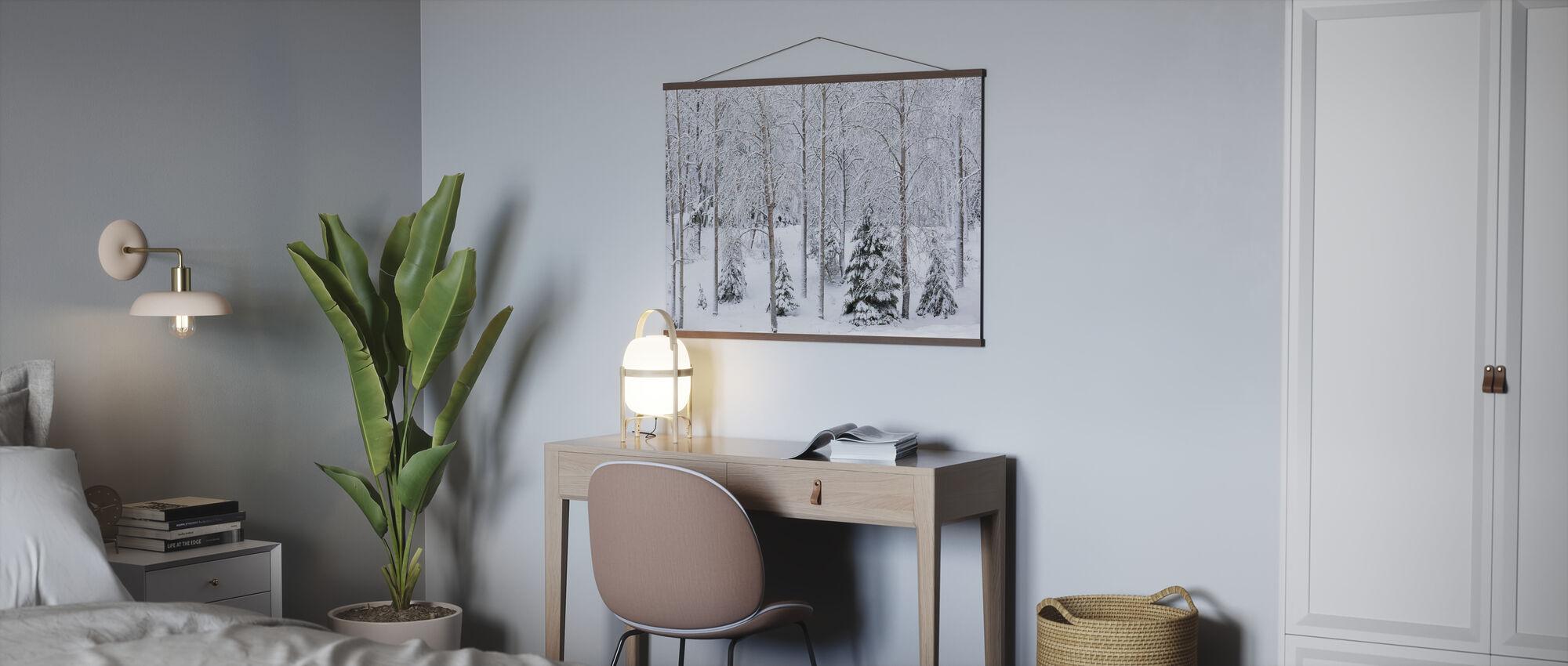 Sneeuw in het bos - Poster - Kantoor