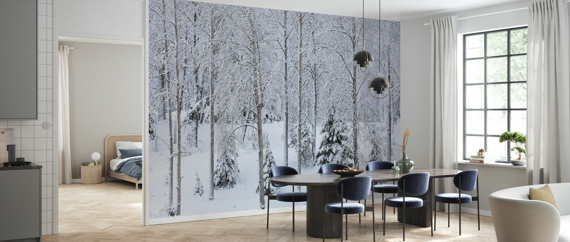 Snow in the Forest - Wallpaper - Kitchen