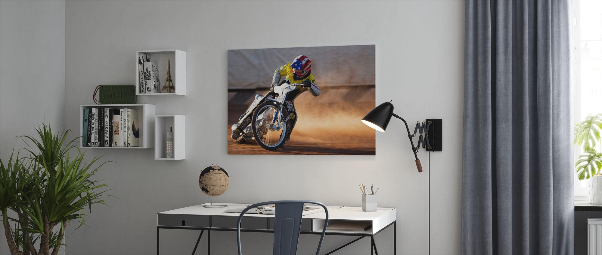 Going Sideways - Canvas print - Office