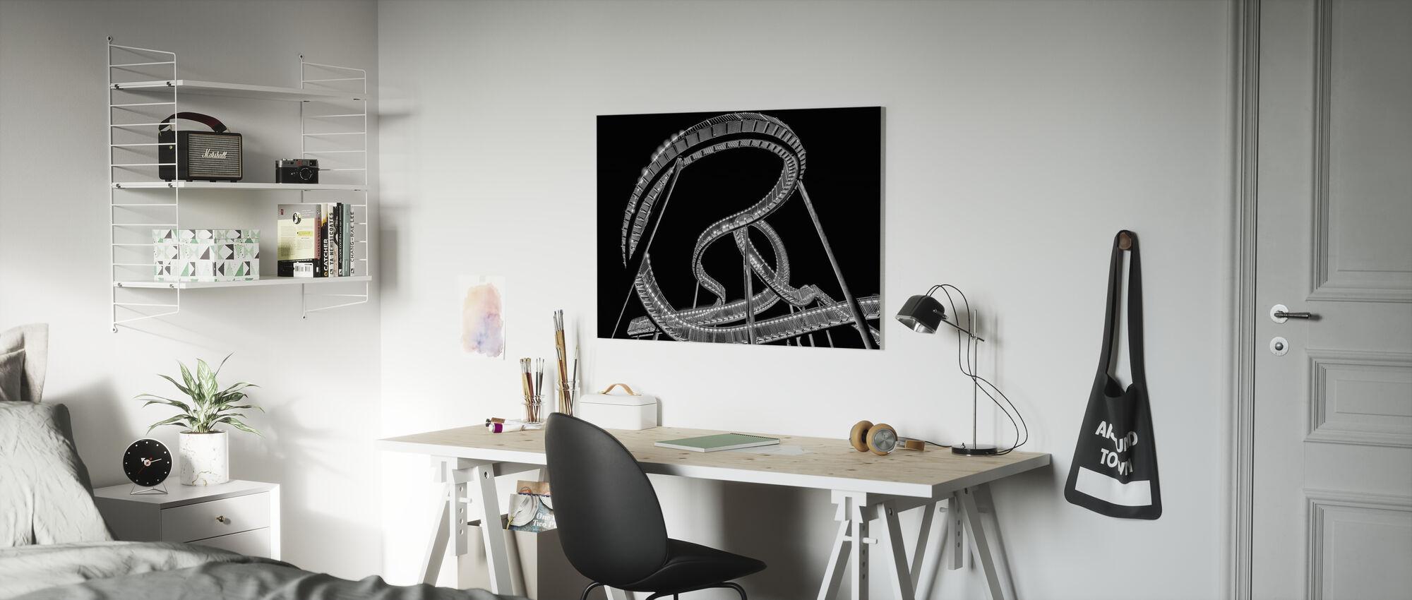 Lightsnake - Canvas print - Kids Room