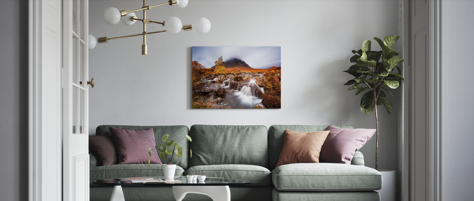 Autumn in the Glencoe - Canvas print - Living Room