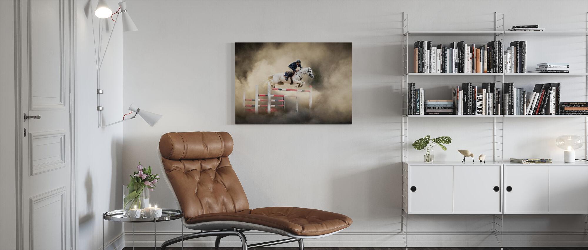 Wit Paard - Canvas print - Woonkamer