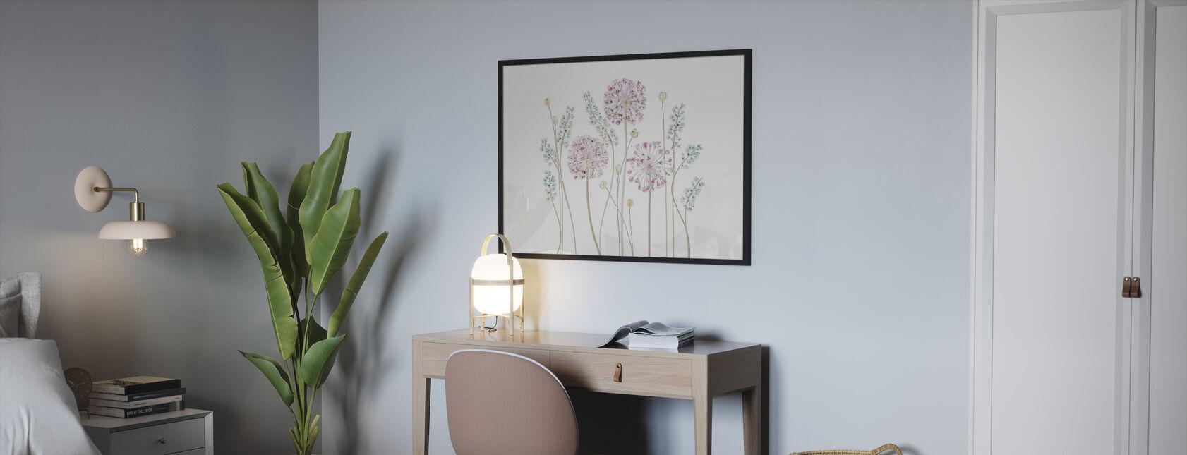 Allium - Framed print - Bedroom