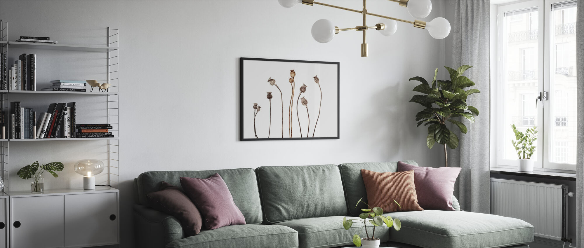 Poppies - Framed print - Living Room