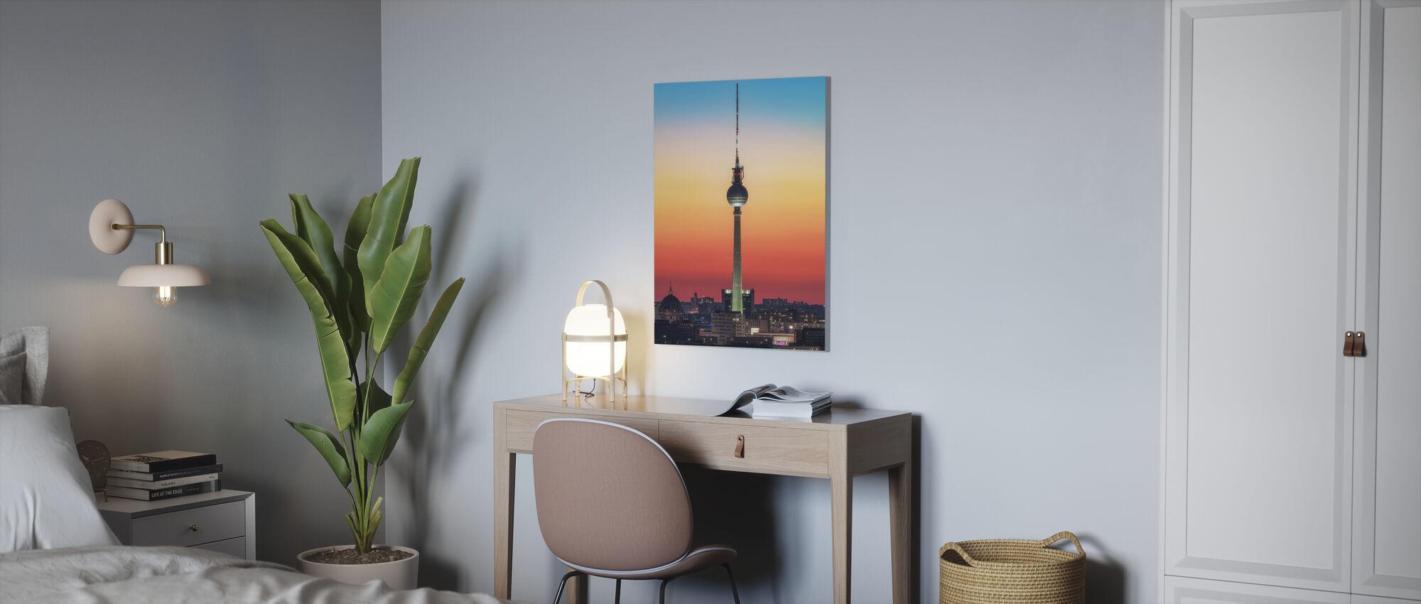 Berlin - Pastell Study - Canvastaulu - Toimisto
