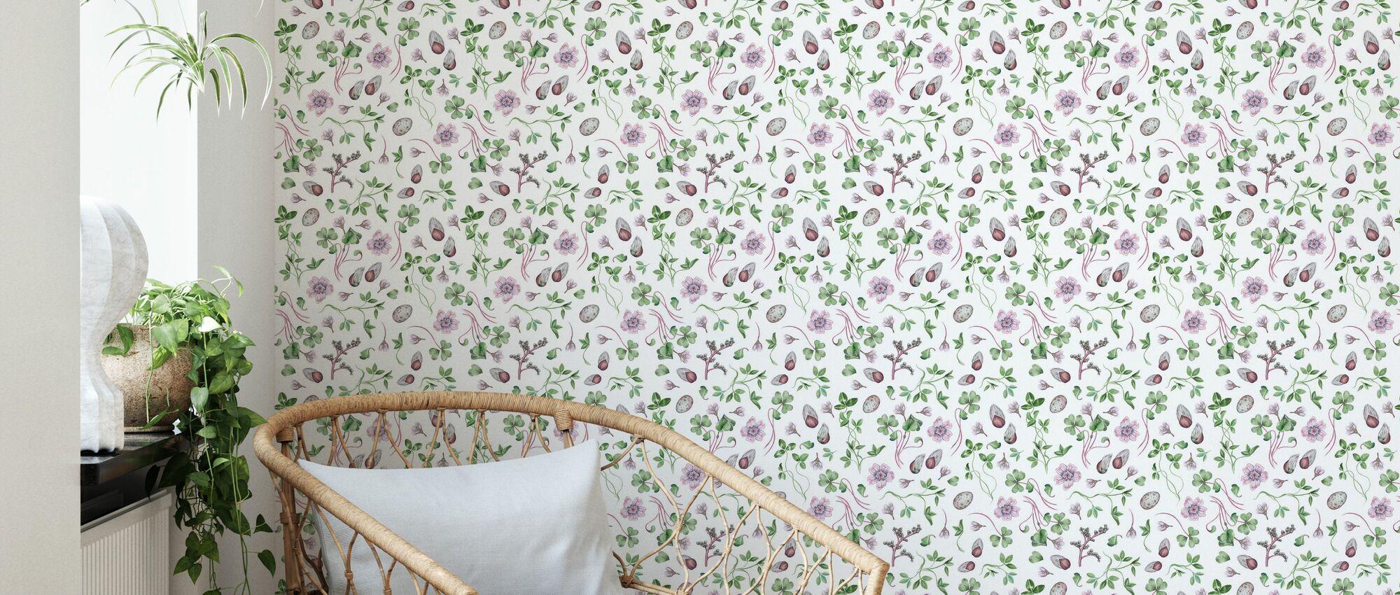 Vidsala Mist - Wallpaper - Living Room