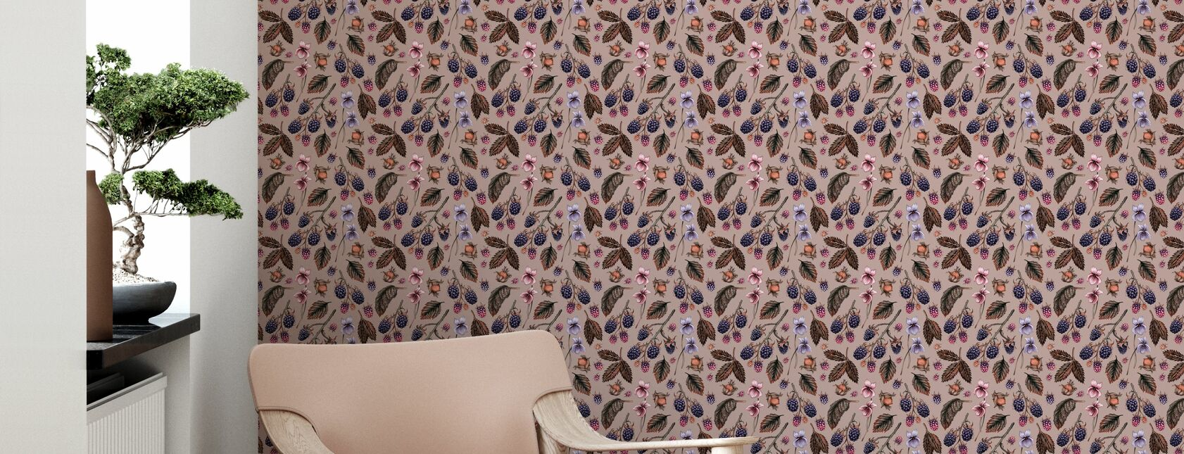 Bramble Hill Vintage - Wallpaper - Living Room